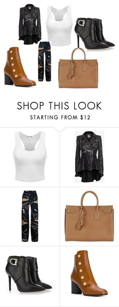 A fashion look from August 2017 featuring sleeveless crop top, genuine leather jackets and stretch waist pants. Browse and shop related looks. Stella Luna, Alexander Mcqueen, Yves Saint Laurent, Valentino, Shoe Bag, Polyvore, Stuff To Buy, Accessories, Shopping
