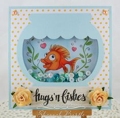 Whimsy Stamps card by Shannah Bartle using 'Hugs & Fishes' from Krista Heij-Barber.