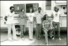 Ronald Johnson, Tony Dagradi, John Vidocovich, Professor Longhair, Andy Kaslow, David Watson, before leaving for northeast tour