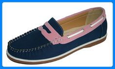 Coolers – Mokassin Damen Mädchen Fake Leder Nubukleder Schuh Boot, -  - Blau / Rosa schlüpfen - Größe: 38 - Bootsschuhe für frauen (*Partner-Link) Deck, Slip, Partner, Sperrys, Boat Shoes, Best Deals, Fashion, Pink, Moda