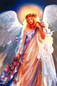 Messenger of Love - my favorite painting of an angel - by Mary Baxter St. Clair now this is so cute the pretty angel Angels Among Us, Angels And Demons, Real Angels, I Believe In Angels, Angel Pictures, Angel Images, Fairy Pictures, Mystique, Angels In Heaven
