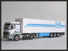 Mercedes-Benz Axor Truck 2nd Version Free Paper Model Download