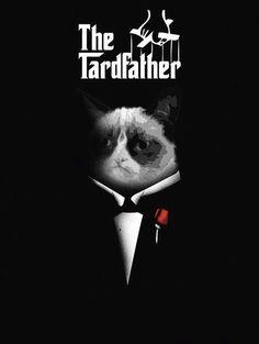 Grumpy Cat: The Tardfather. Grumpy Face, Grumpy Cat Humor, Cat Memes, Grumpy Kitty, Cats Humor, Crazy Cat Lady, Crazy Cats, Cute Little Girl Names, Cat Insurance
