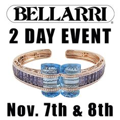 BARONS is proud to host a 2-Day BELLARRI Event to showcase this fine line of fashion jewelry. Within each BELLARRI design you will find a delicate art form in which the blending of colors and unique cuts of gemstones must intertwine in harmony. Come into BARONS on Friday 11/7 and Saturday 11/8 and find the design that helps you enrich and enhance the treasured moments of your life. #BARONS #baronsjewelrs #Bellarri #ColorJewelry #art #gems #artistic #fashion #design