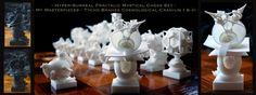 Surreal Chess Set - My Masterpieces - The Bishops by MANDELWERK.deviantart.com on @DeviantArt