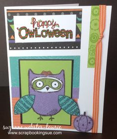 CTMH August 2014 Stamp of the Month: What a Hoot. http://scrapbookingsue.com