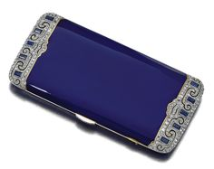 I'd like an ipod case like this. - - Cigarette Case - 1920's - by Van Cleef and Arpels - @~ Watsonette