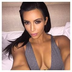 For when you're about to go to sleep but you still look like a goddess. | 27 Kim Kardashian Selfies For Every Occasion