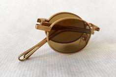 Matsuda 10609 18K Gold Folding Vintage Sunglasses New Old
