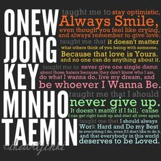What SHINee has taught me
