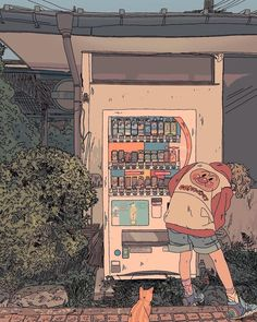 vending machine girl cat anpanman digital art graphic design aesthetic drawing photoshop modern anime style asian japanese chinese ethereal g e o r g i a n a : a r t drawing digital g e o r g i a n a Aesthetic Drawing, Aesthetic Art, Aesthetic Anime, 5 Anime, Anime Chibi, Anime Art, Art And Illustration, Pretty Art, Cute Art