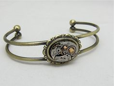 Steampunk Bracelet  In the Works  Steampunk watch by steampunkjunq