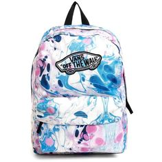 Vans Realm Backpack in Marble Print (140 BRL) ❤ liked on Polyvore featuring  bags dea34628a85