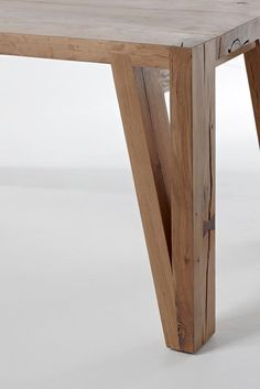 Wood Craftsmanship. We love the grain and the joins on this table leg