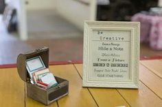 Guest book supplies and instructions for our #smashbook. #vintage #wedding