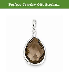 Perfect Jewelry Gift Sterling Silver Rhodium Plated Diamond Smoky Quartz Pendant. Sterling Silver Rhodium Plated Diamond Smoky Quartz Pendant Polished - Genuine - Sterling silver - Diamond - Smokey quartz - Rhodium-plated - Checkerboard-cut Size: 0 Length: 29 Weight: 1.01 Jewelry item comes with a FREE gift box. Re-sized or altered items are not subject for a return. Sterling Silver Rhodium Plated Diamond Smoky Quartz Pendant Product Type:Jewelry Jewelry Type:Pendants & Charms Material:...
