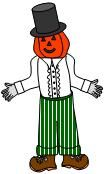 template for kids to color, cut, and paste together scarecrow from The Little Old Lady Who Wasn't Afraid of Anything