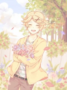 Yoosung credit to artist Manga Anime, Anime Guys, Anime Art, Yoosung X Mc, Mystic Messenger Yoosung, Boy Magia, Saeran, Illustrations, Kawaii