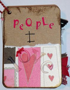 """""""People I Love"""" Album a simple mini album that you can make out of a small tin, like an Altoids tin, and a few pieces of pattern paper and cardstock"""