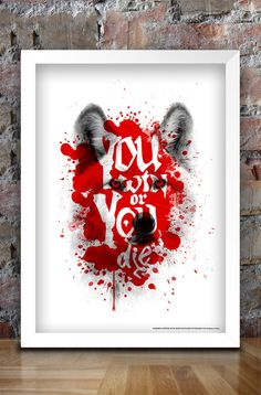 Game of Thrones Inspired You Win or You Die Print (Ghost) by thedesignersnursery in Colchester, United Kingdom Game Of Thrones Merchandise, Game Of Thrones 3, Piece Of Me, A3, United Kingdom, Inspired, Random, Artwork, Inspiration