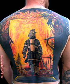 WOW!! Full back tattoo. carlos (Oakland Calif FD)