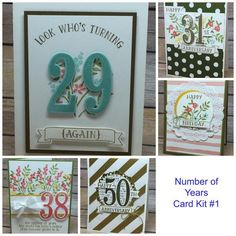 Party with Cake and Number of Years with Stampin Up