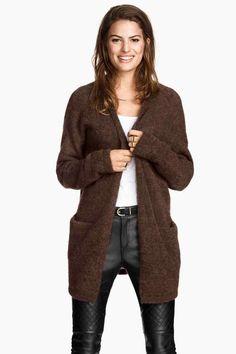 Cardigan em lã mesclada | H&M