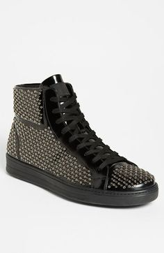 half off 98bb0 76d3b Prada Studded Sneaker available at  Nordstrom Retro Sneakers, Classic  Sneakers, All Black Sneakers