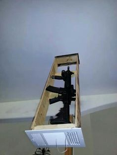 Air vent rifle concealment.