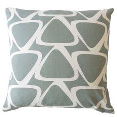 "Corrigan Studio Ann Modern Geometric Down Filled 100% Cotton Throw Pillow Size: 18"" x 18"""