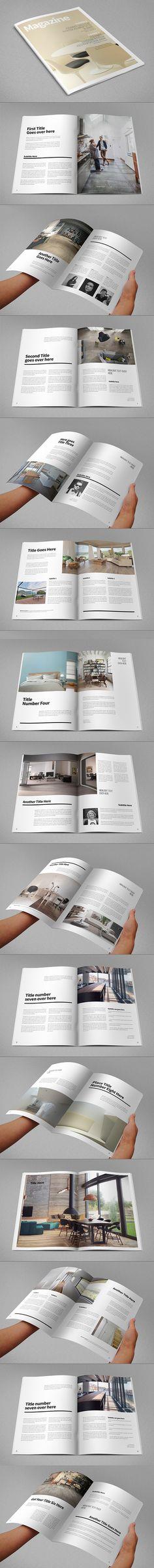 Minimal Design Magazine. Download here: http://graphicriver.net/item/minimal-design-magazine/10049560?ref=abradesign #design #magazine #mag