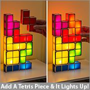 Tetris Desk lamp .. a little tacky but could be neat for the nerd room ThinkGeek :: Tetris Stackable LED Desk Lamp