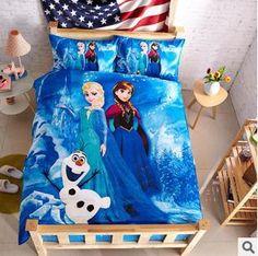 Frozen Princess Children Kids Cartoon Bedding Set Duvet Quilt Cover Sheet Sets Queen Full Twin Bedset From Jjl_baby, $105.29 | Dhgate.Com