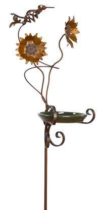 Gorgeous garden art idea! Oregardenworks Bird in Flight Sunflower Feeder, $142.40