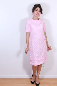 "1950s ""A Mendel Creation"" Pink Dress with Bow by VintageRevival818 on Etsy"