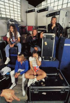 The Maiden in backstage 1988