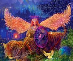 Archangel Ariel is the angel of the spirit of nature. Because Ariel is so close to the earth, she helps with day-to-day material needs of home, food, clothing, and so forth. Call upon Ariel for strength and support if you're worried about finances.