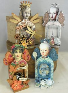 Have you joined in with the Altered Fairy Shrine swap at Retro Cafe Art Yet? If not you still have a little time . Its due by Aug. Altered Tins, Altered Art, Paper Dolls, Art Dolls, Retro Cafe, Little Presents, Matchbox Art, Tin Art, Cafe Art