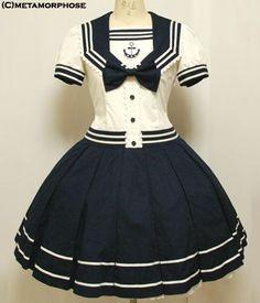#Dresses, #Love, #Manga, #Sailor-Dress, #Sailor-Shorts, #Sailors, #Short-Sleeve-Dresses, #Sleeve #manga - Beautiful Sailor dress! Oh I would love to have a dress like this!!! Looks like a manga dress.