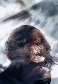 Heart-breaking.... Bilbo at Thorin's death.... Credit to the Artist...