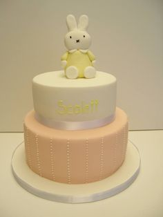 Miffy Rabbit on a two tier cake