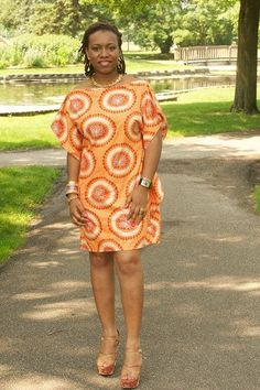 DIY Short Printed (Ankara) Kaftan Dress