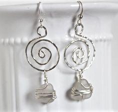Sea glass jewelry.  ocean glass earrings by Jewelrybeyondthesea
