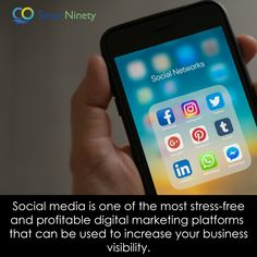 Social media is one of the most stress-free and profitable digital marketing platforms that can be used to increase your business visibility. Social Networks, Social Media Marketing, Digital Marketing, Marketing Branding, Competitor Analysis, Stress Free, Platforms, Advertising, Management