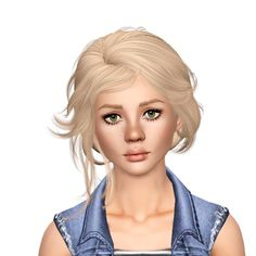 Newsea`s Lotus in Snow hairstyle retextured by Sjoko for Sims 3 - Sims Hairs - http://simshairs.com/newseas-lotus-in-snow-hairstyle-retextured-by-sjoko/