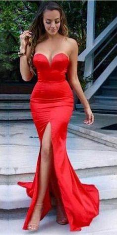 Sweetheart Mermaid Taffeta Prom Dresses 2017