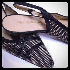 Bruno Magli Tweed Slingback Heel.