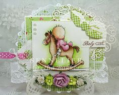 "Het kaartenhoekje van Gretha: Lili of the Valley ""Rocking Horse"" Handmade Stamps, Digi Stamps, Lily Of The Valley, Baby Cards, I Card, New Baby Products, Projects To Try, Card Making, Crafty"