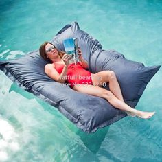 The SoFloat Cloud Nine Pillow will make you feel like you're floating on water, if not on cloud nine. Bean Bag Sofa, Inflatable Float, Cheap Cushion Covers, Bean Bag Covers, Floating In Water, Big Bags, Cool Gadgets, Water Sports, Summer Fun