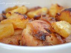 Pulpe de pui cu ananas la cuptor